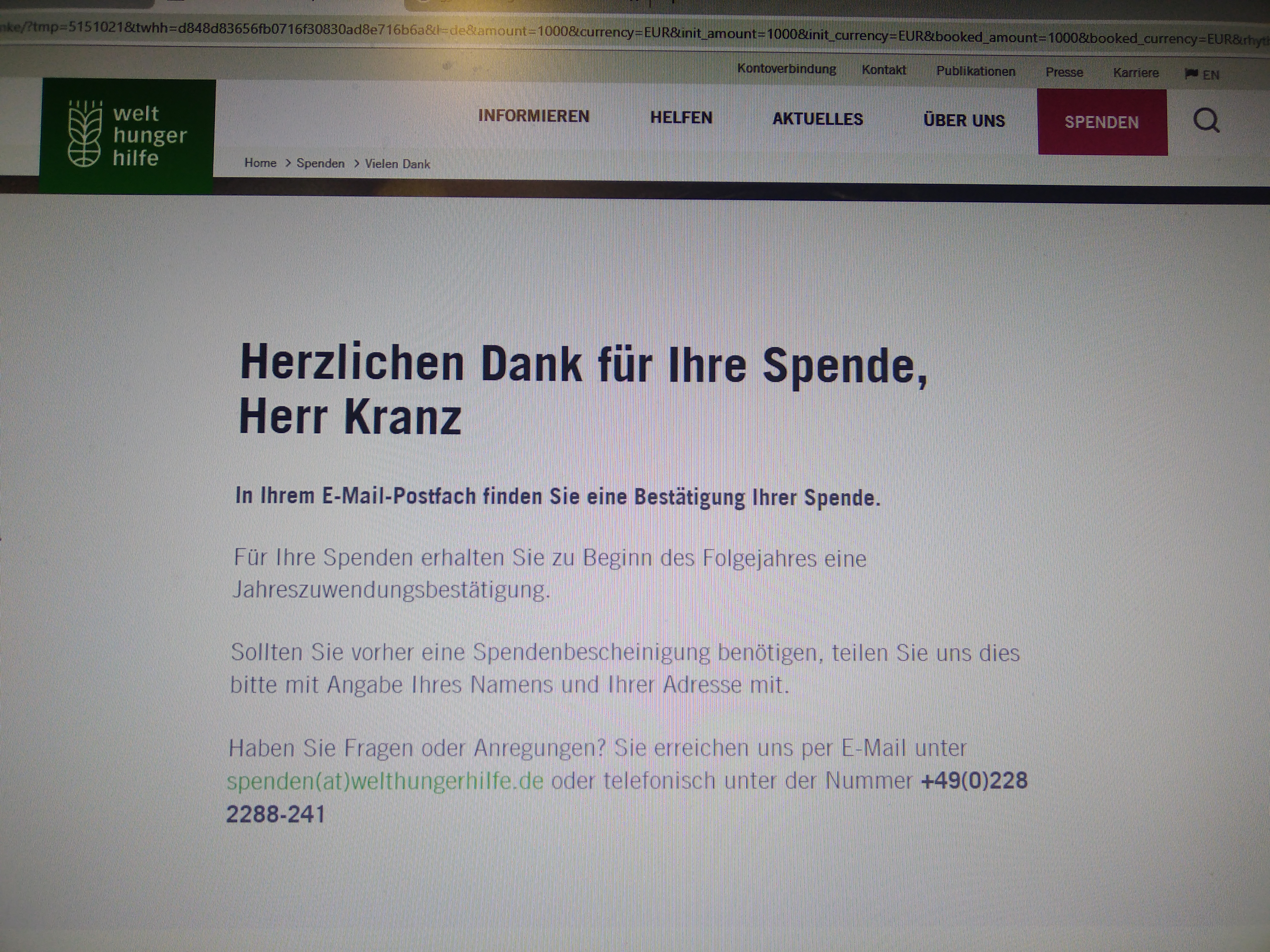 """<p id=""""afterless227"""">Eine Spende an die Welthungerhilfe! Damit niemand mehr Hung...</p><div id=""""aftermore227"""" style=""""display:none;""""><p>Eine Spende an die Welthungerhilfe! Damit niemand mehr Hungern muss!</p></div><a href=""""javascript:showMore('after', 227)"""" id=""""afterlink227"""">Mehr...</a><br>"""